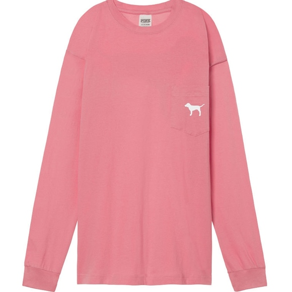 Victoria s Secret PINK Campus Long Sleeve Tee. M 5a3f5cb13a112e9941000f51 7085fc683